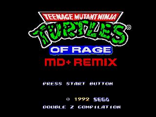 Turtles of rage remake megaSD