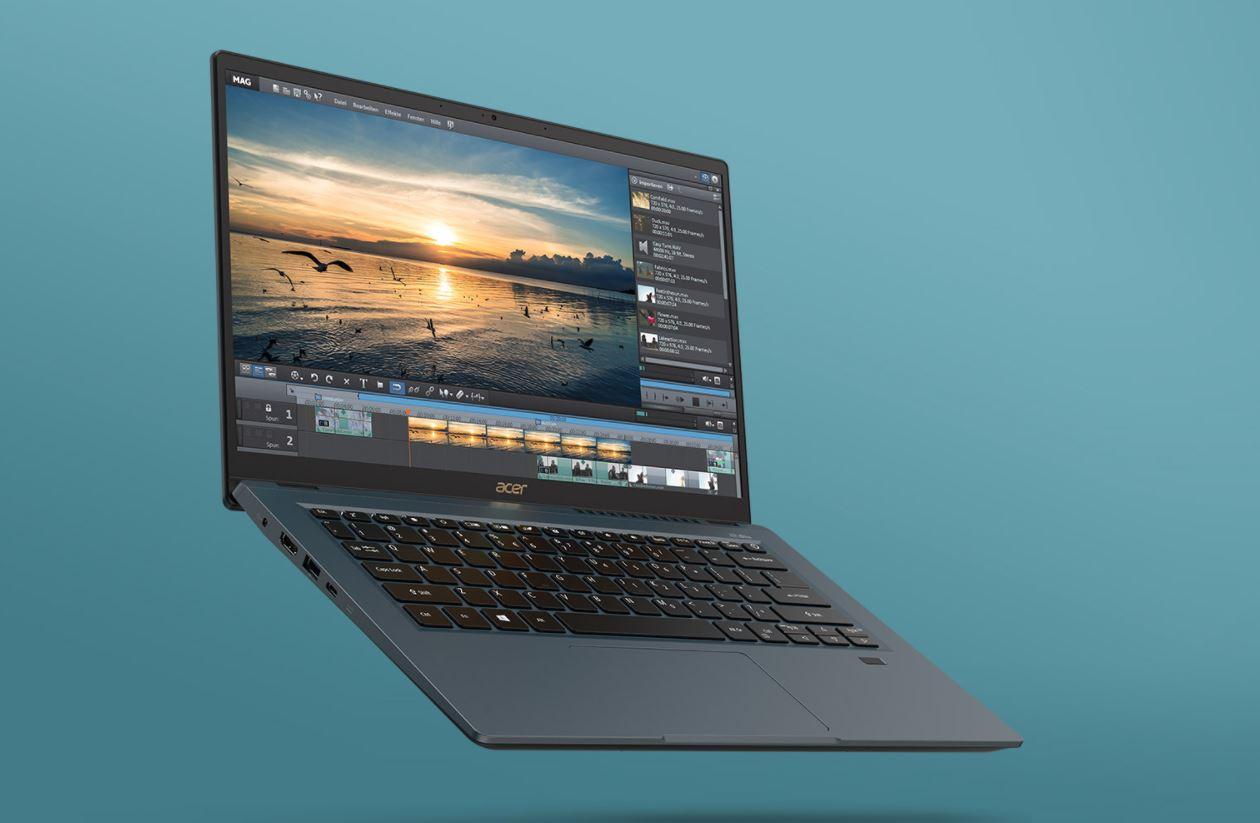 Acer Swift 3X SF314-510G 776L, Ultrabook Terbaru Bertenaga Intel Core Generasi Ke-11 Tiger Lake