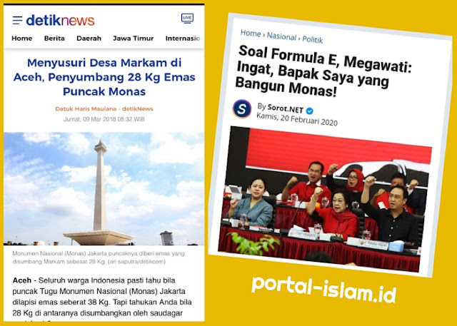 Megawati: Ingat, Bapak Saya yang Bangun Monas! Netizen: Ingat, Emasnya dari Aceh!