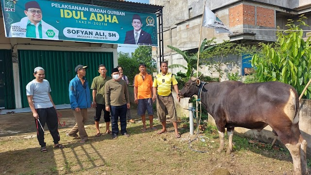 Semarakkan Idul Adha, Anggota DPR RI Sofyan Ali Bagikan Daging Kurban Untuk Warga