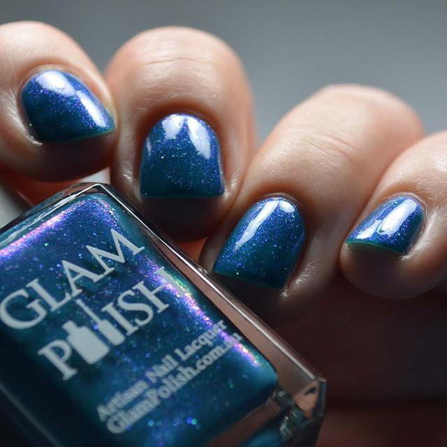 color shifting shimmer nail polish swatch