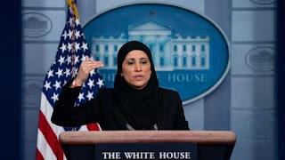 Veiled woman in the White House سيدة محجبة في البيت الأبيض