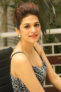 Actress Shraddha Das Stills in Short Dress at tur Talkies Movie Interview 0003