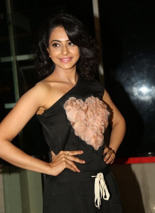 Rakul Preet Singh In Black Dress At Telugu Movie Show
