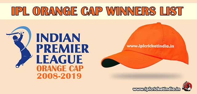 Complete IPL Orange Cap Holder List & Winners List 2020