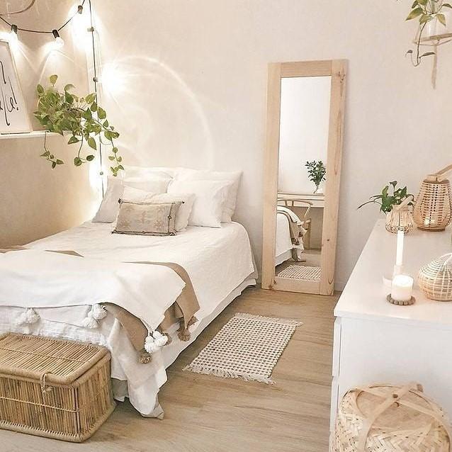 Desain Kamar Tidur Minimalis Natural dengan Gaya Rustic