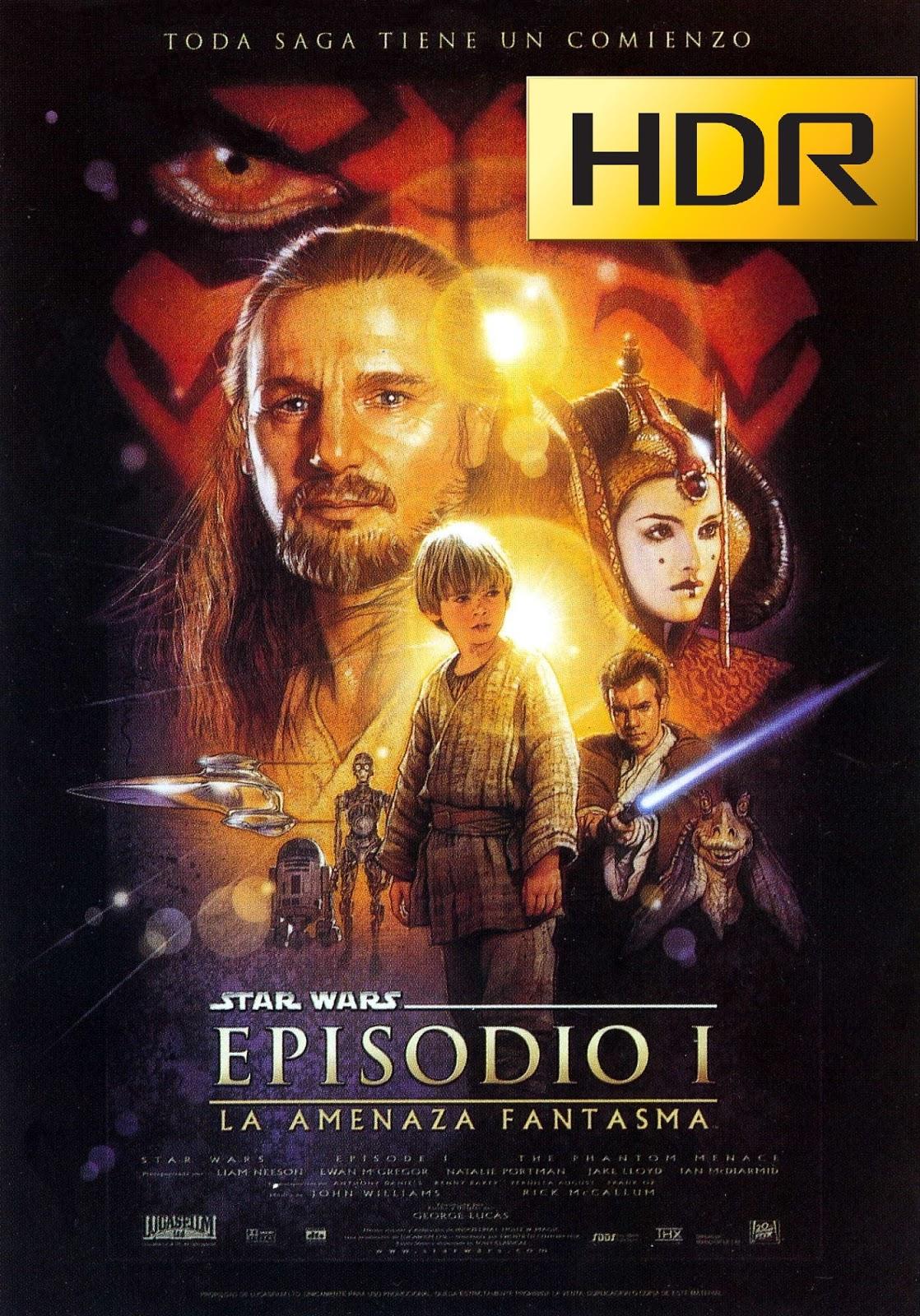 Star Wars: Episodio I (1999) 4K UHD HDR Webrip Latino