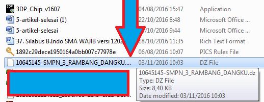 gambar nama file dz UN