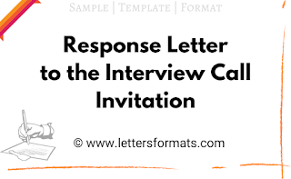 response mail for interview call letter