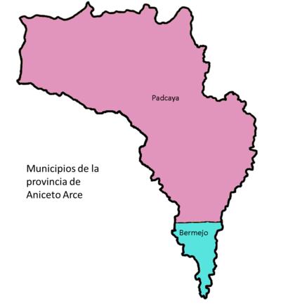 Provincia Aniceto Arce: departamento de Tarija