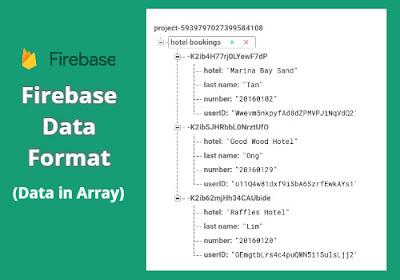 firebase data format