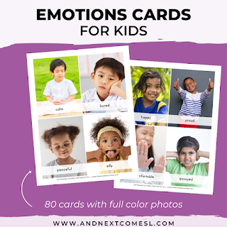 Emotion Cards for Kids from And Next Comes L