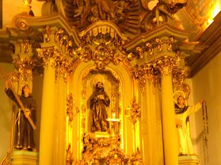 Imagem na Igreja de São Francisco - São Paulo