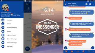 Download BBM Mod iMessenger v9 base v3.2.0.6