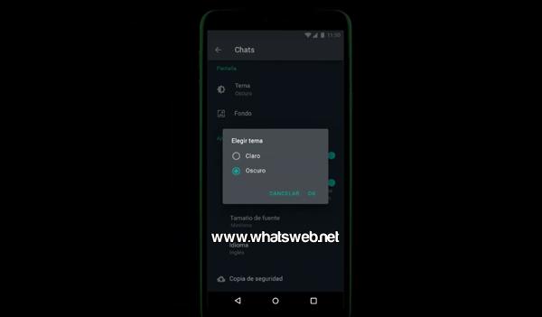 Como activar y usar el modo oscuro en WhatsApp