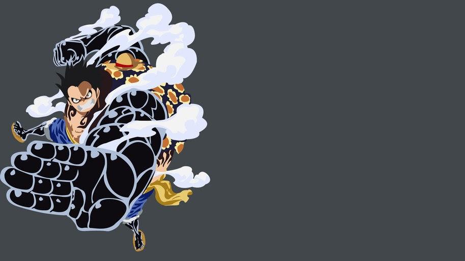 Luffy, Boundman, Gear Fourth, Minimalist, One Piece, 4K, #6.33