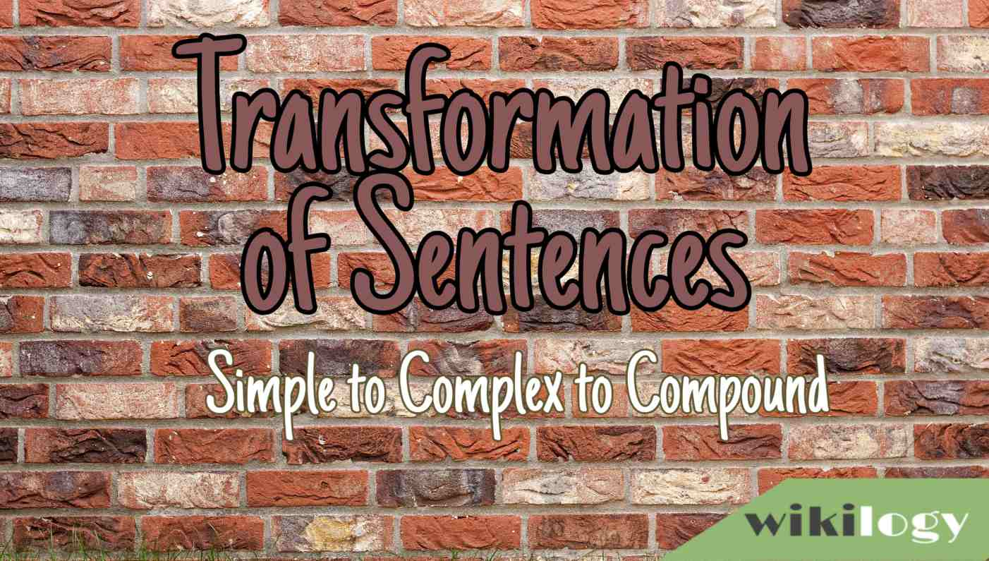 Transformation of sentences- simple complex and compound