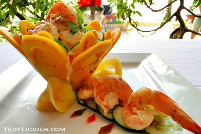 Papaya Shrimp Boat at Don Vito Italian Restaurant Boracay