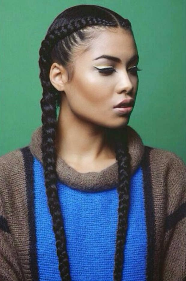 Black Natural French Braids