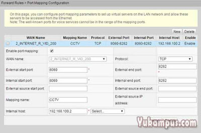 port forwarding dvr