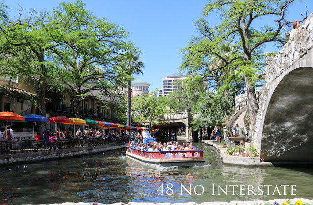 48 No Interstate back roads cross country coast-to-coast road trip Riverwalk San Antonio Texas