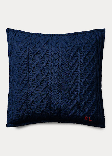 Blue sweater pillow