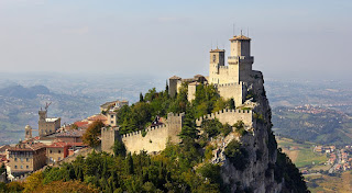 San Marino's Fortress of Guaita is one of the republic's most photographed spectacles