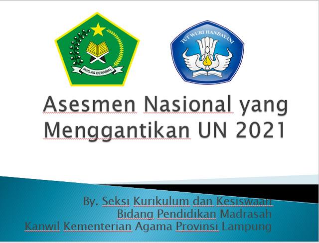 Asesmen Nasional yang Menggantikan UN 2021