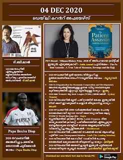 Daily Malayalam Current Affairs 04 Dec 2020