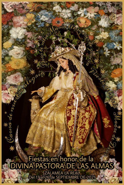 Cartel Festividad Divina Pastora de las Almas de Zalamea la Real 2021