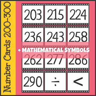 https://www.teacherspayteachers.com/Product/Number-Cards-200-300-3490548