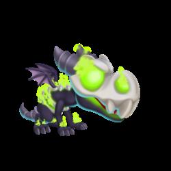 Apariencia del Dragón Destructor de Maldad de bebé.