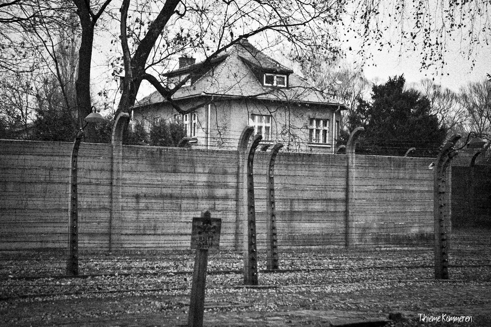 krakow and auschwitz birkenau thieme kommeren photography as you can see some windows look directly over the camp no secrets at all makes you think about boy in the striped pyjamas doesn t it
