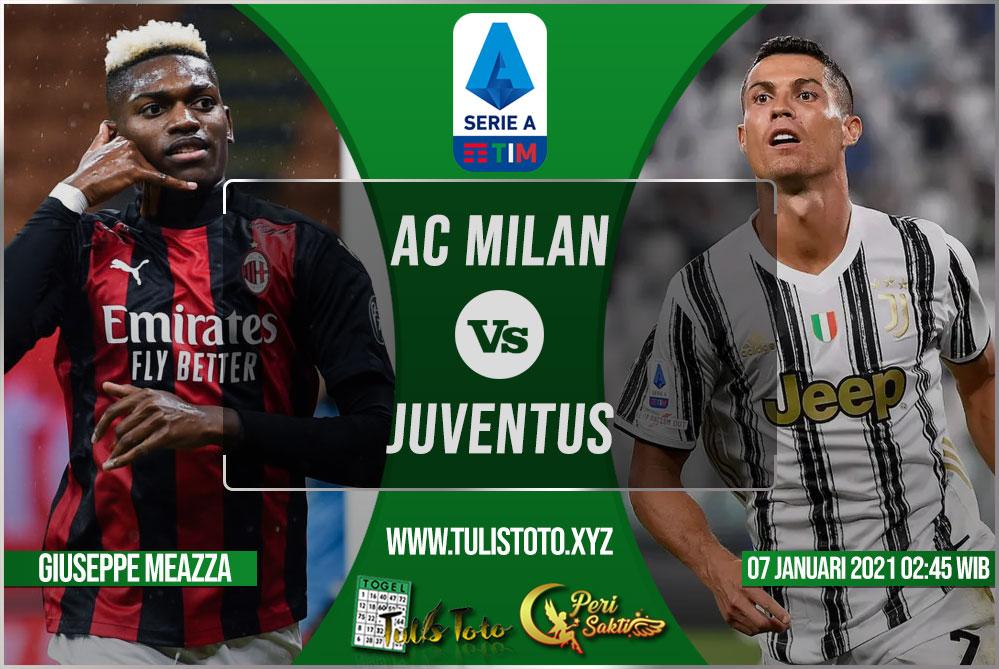 Prediksi AC Milan vs Juventus 07 Januari 2021