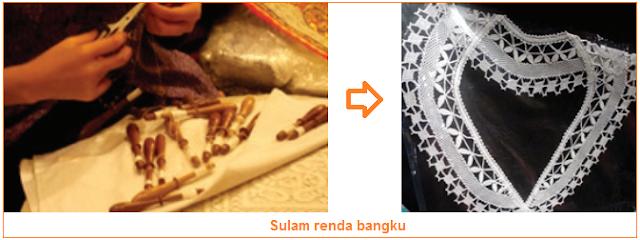 gambar jenis sulam renda bangku