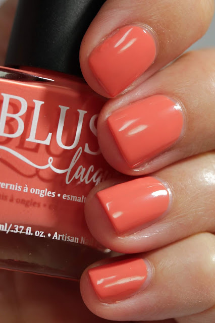 BLUSH Lacquers Darling Dahlia swatch by Streets Ahead Style