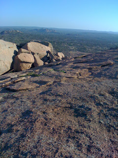 near the summit of Enchanted Rock, Texas