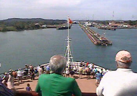 Ships In The Panama Canal March 2013