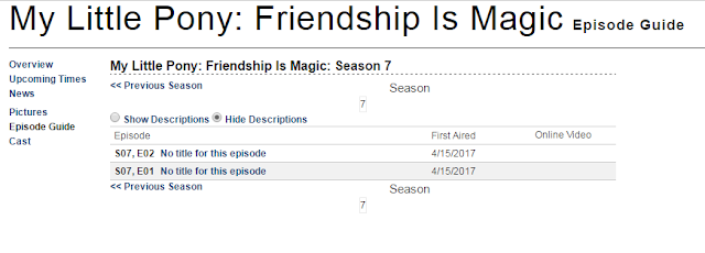 My Little Pony Season 7 Start Date