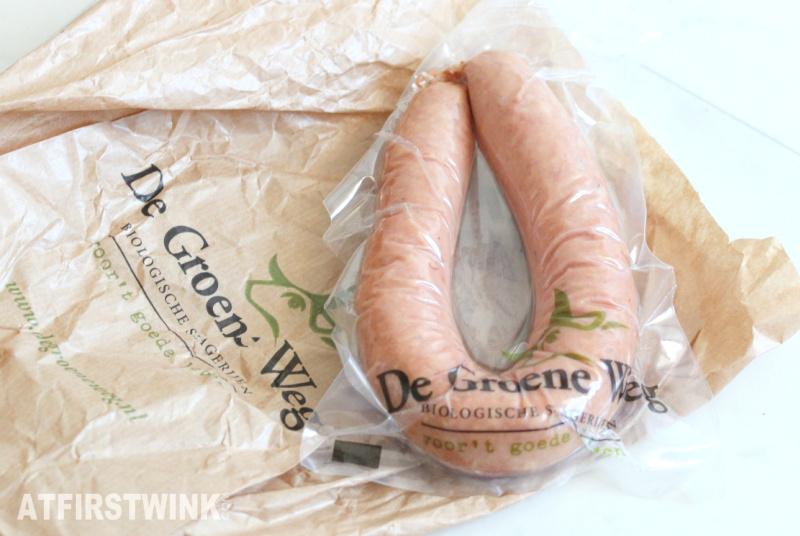 de groene weg biologische rookworst Dutch smoked sausage