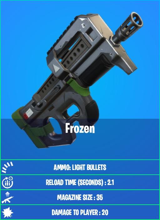 Frozen SMG in Fortnite