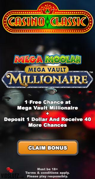 Mega Vault Millionaire No Deposit Bonus - Casino Classic