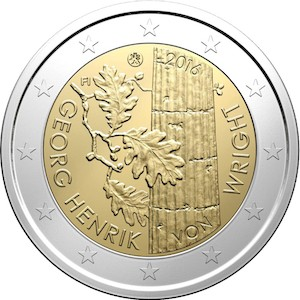 kahden euron kolikko 2016 suomi