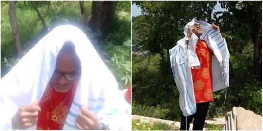Nnamdi Kanu Visits Biafran Cenotaph Hilltop in Enugu (photos)