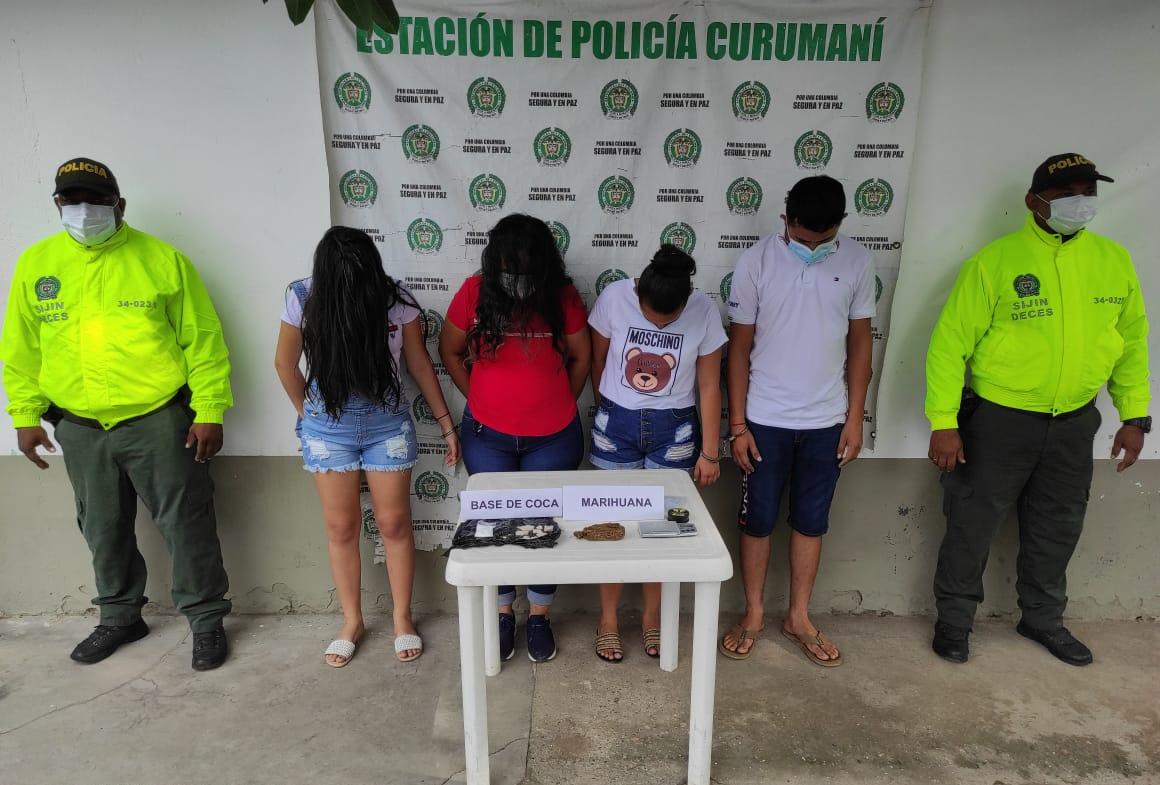 https://www.notasrosas.com/En Curumaní - Cesar: capturados tres mujeres y un hombre con base de coca y marihuana