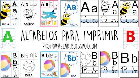 CARTAZES DO ALFABETO PARA IMPRIMIR - VOLTA ÀS AULAS