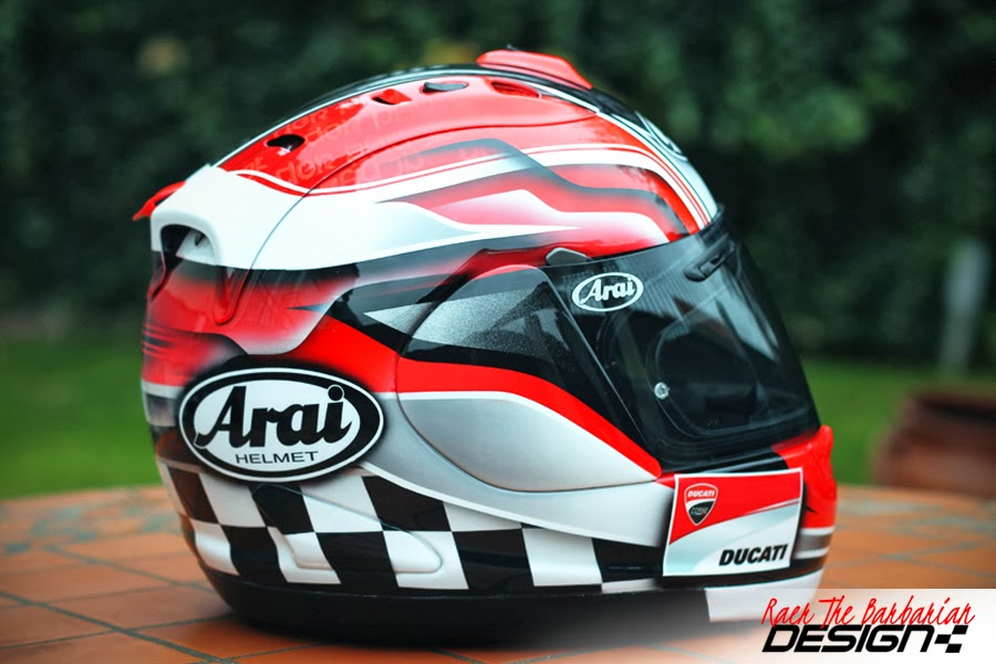 racing helmets garage arai rx gp ducati 2014 by raer the barbarian. Black Bedroom Furniture Sets. Home Design Ideas
