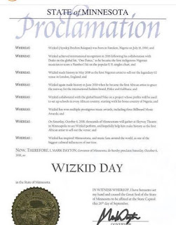 US state declares October 6 as Wizkid Day