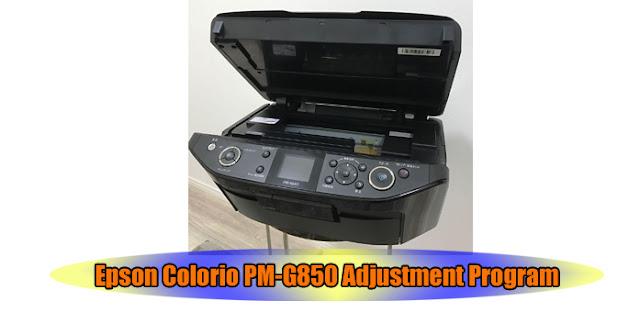 Epson Colorio PM-G850 Printer Adjustment Program