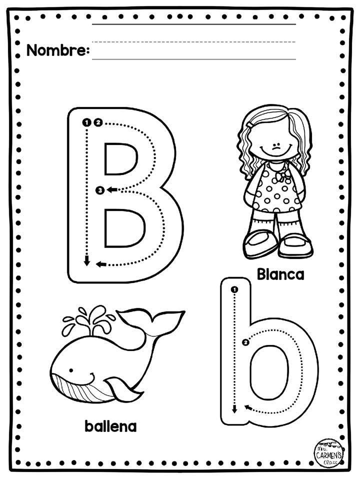 Fichas De Abecedario Para Colorear Materiales Educativos